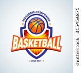 basketball logo template ... | Shutterstock .eps vector #315456875