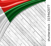 madagascar flag   of silk with... | Shutterstock . vector #315462077