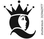 beautiful face queen icon | Shutterstock .eps vector #315462977