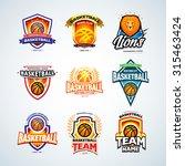 basketball logo templates set ... | Shutterstock .eps vector #315463424