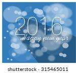 vector vintage retro happy new... | Shutterstock .eps vector #315465011