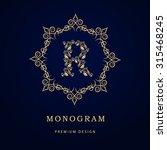 monogram design elements ... | Shutterstock .eps vector #315468245