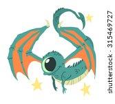 cartoon casual little alien...