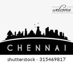 chennai india skyline... | Shutterstock .eps vector #315469817