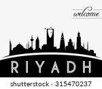 riyadh saudi arabia skyline... | Shutterstock .eps vector #315470237
