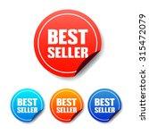 best seller round stickers | Shutterstock .eps vector #315472079