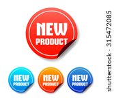 new product round stickers | Shutterstock .eps vector #315472085