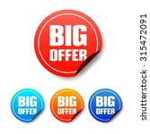 big offer round stickers | Shutterstock .eps vector #315472091