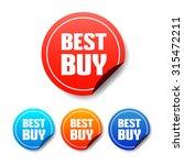 best buy round stickers | Shutterstock .eps vector #315472211