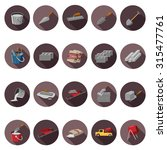 cement icons set in flat design ... | Shutterstock .eps vector #315477761