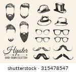 hipster hair  beards  mustaches ...   Shutterstock .eps vector #315478547