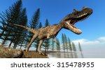 Ceratosaurus Dinosaur Roaring...