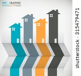 real estate abstract concept... | Shutterstock .eps vector #315479471