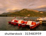 Scenic View Of Annecy Lake ...