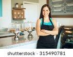cute hispanic female business...   Shutterstock . vector #315490781