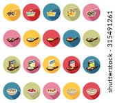 cereal icons set in flat design ... | Shutterstock .eps vector #315491261
