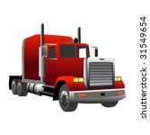 Red Gradiented Truck  Vector...
