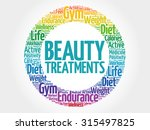 beauty treatments circle stamp... | Shutterstock .eps vector #315497825