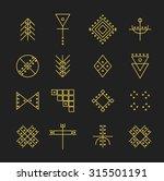 set of geometric shapes. trendy ... | Shutterstock .eps vector #315501191