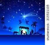 high detail vector nativity...   Shutterstock .eps vector #315521105