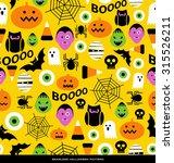 seamless halloween theme pattern | Shutterstock .eps vector #315526211