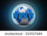 word www is wrapped in front of ... | Shutterstock . vector #315527684