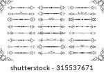 ornate vintage divide set is on ...   Shutterstock . vector #315537671