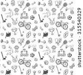 hand drawn doodle sport... | Shutterstock . vector #315540329