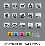 online store icons the vector... | Shutterstock .eps vector #315540971