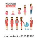 family people design  vector... | Shutterstock .eps vector #315542135