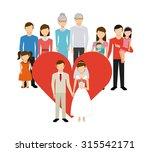 just married design  vector... | Shutterstock .eps vector #315542171