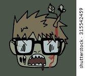 halloween cartoon funny hipster ...   Shutterstock .eps vector #315542459