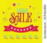 mega sale tags. sale banners... | Shutterstock .eps vector #315561881