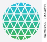 abstract triangles in circle... | Shutterstock .eps vector #315563594