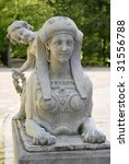 statue that resembles a sphinx. ... | Shutterstock . vector #31556788