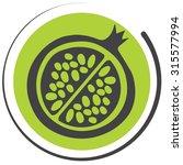 bio pomegranate icon   Shutterstock .eps vector #315577994