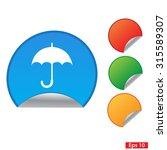 umbrella icon. eps 10.  web...