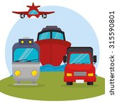 transport and vehicles graphic... | Shutterstock .eps vector #315590801