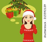 stressed holiday woman | Shutterstock .eps vector #315592139