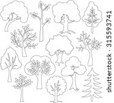 tree outlines | Shutterstock .eps vector #315593741