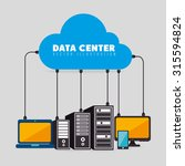 data center  cloud computing... | Shutterstock .eps vector #315594824