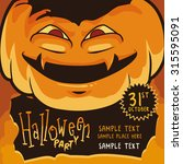 halloween poster with  wicked... | Shutterstock .eps vector #315595091