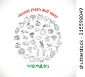 isolated vegetables in a circle.... | Shutterstock .eps vector #315598049