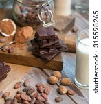 ingredients for the chocolate... | Shutterstock . vector #315598265