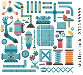 set of parts for a machine or a ... | Shutterstock .eps vector #315599999