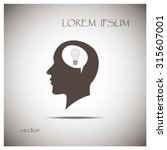 silhouette of a human head and... | Shutterstock .eps vector #315607001