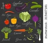 fresh vegetables. diet and... | Shutterstock .eps vector #315607181