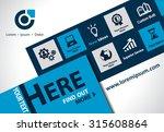 vector brochure  flyer ... | Shutterstock .eps vector #315608864