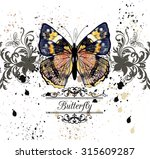 fashion illustration with... | Shutterstock .eps vector #315609287