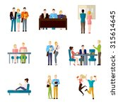 student life set with classroom ... | Shutterstock . vector #315614645